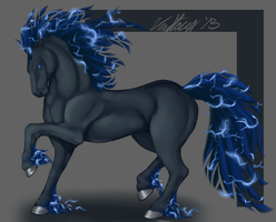 Adoptable: Blue Lightning by Vexstacy