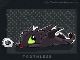 HTTYD: Toothless chibi by Nekoro-san
