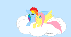 Simple FlutterDash Wallpaper by Umbreon24
