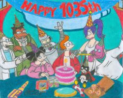 Happy 1035th Birthday by Sketchman147