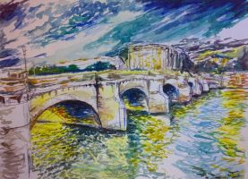 paris bridge by pigletface