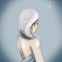 white hair dont care by KnightLuna