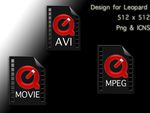 Icons Red Black Video Files by zobbit