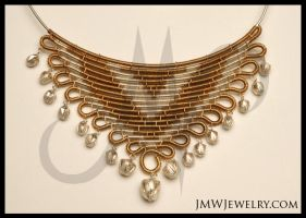 Blastoid Necklace Set Closeup by JMWJewelry