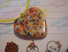 Resin candy sprinkle necklace by Daisy--Chains