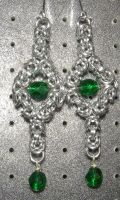 Chainmaille Earring 21 by Des804