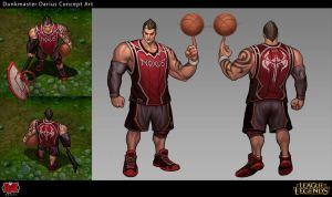 Dunkmaster Darius Concept Art by Yideth