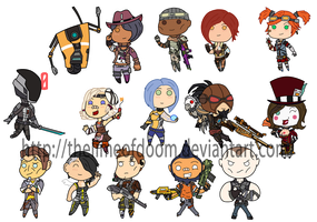 Borderlands Chibis by thelimeofdoom