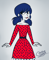 Marinette's Dress by MaryTR