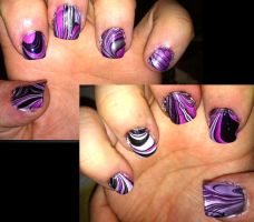 Kitty's nails by lettym