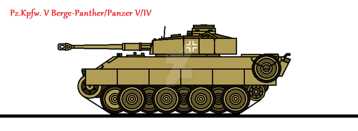 Pz.Kpfw. V Berge-Panther/Panzer V/IV by thesketchydude13
