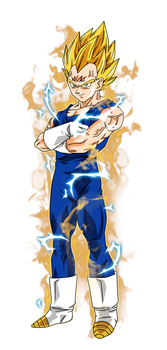 Majin Vegeta by BardockSonic