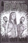 Michonne and pets sketch cover by shinlyle
