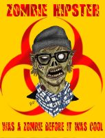 Zombie Hipster by Psych93