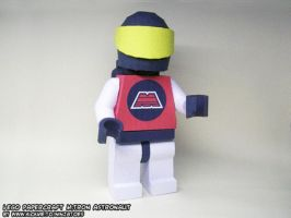 LEGO minifig papercraft opaque by ninjatoespapercraft