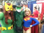 Me meeting DCnU Supergirl and an X-Men by Leck-Zilla
