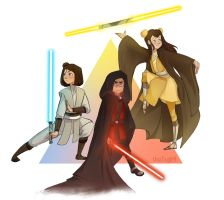 Star Wars Air Sibilings by ChrissaBug