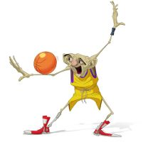 Old man basketball color by GuillermoRamirez