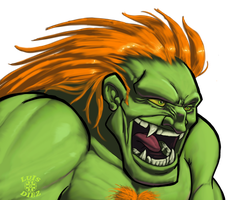 Street Fighter II - Blanka by azrael-al10