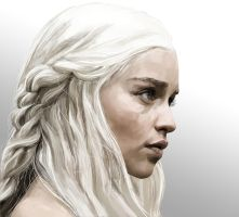 Khaleesi the Mother of Dragons by Baharluleci