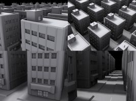 Silly 3d Building by NobiNobi