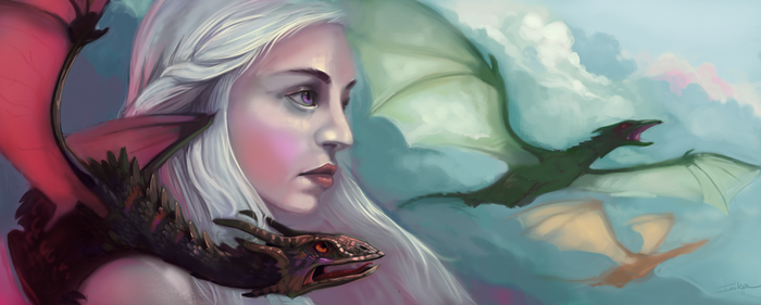 Daenerys From the Fire by L-MakesArt