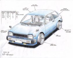 Toyota Starlet Pocket Rocket by KingOfShu