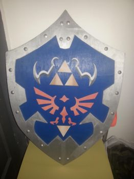 Wood Hylian Shield 1:1, version Ocarina of Time by Alicia-Amber