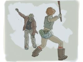 Zombie fight by kartinka75
