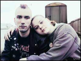 Punk love affair.. by cinges