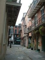 New Orleans Alley by mistressjera-stock