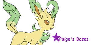 Leafeon Base by Paige-the-unicorn