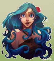 Blue Haired Girl by Grimhel