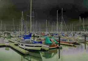 San Francisco Marina Radiating by mastercylinder