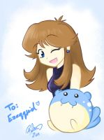 Blue and Spheal for Zeke by firehorse6