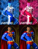 Superman versions by Xtophe