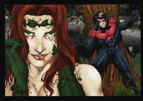Poison Ivy vs Nightwing by MARCIOABREU7