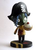 pirate zombie cake closer by Poo-Fly