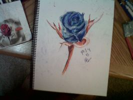Blue rose. by LadyKylin