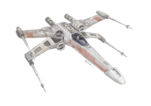 Xwing01aw Revamp of my older work. by AndrewC001