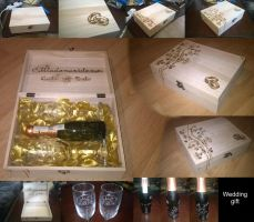 Wedding gift (pyrography and engravir) by zajosvk