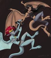 Elisa and Demona by Nehvah