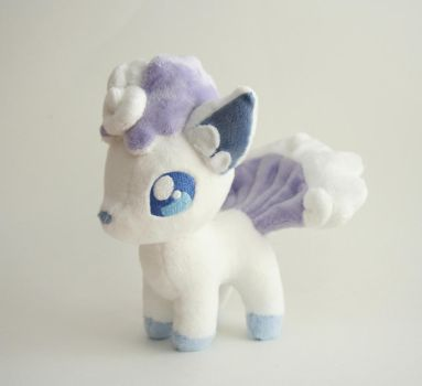 Alola Ice Vulpix by Yukamina-Plushies