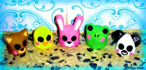 Kawaii Clay Critters by Delirious-Lolita
