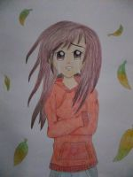 Anime Girl drawing by chloesmith8