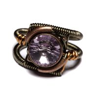 Steampunk Ring light Amethyst by CatherinetteRings