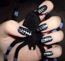 Spider web nails by shadowcat-666