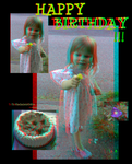Happy Birthday To TheGalleryOfEve (Anaglyph) by Hiscules