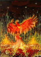 Birth of the Phoenix by shobey1kanoby
