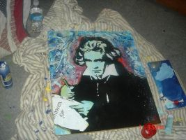 Beethoven Stencil by LunaCreationsX